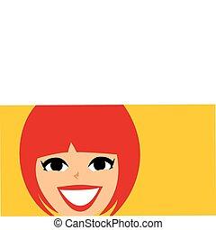 Mod Retro Girl face Banner