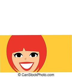 Mod Retro Girl face Banner - Girl face banner