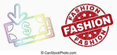 moda, angústia, pontilhado, watermark, espectro, notas, vetorial, renda, ícone