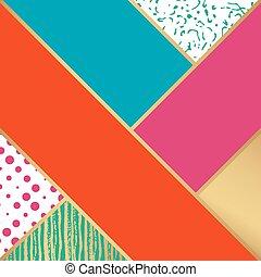 moda, arte, astratto, pattern., illustrazione, vettore, design.