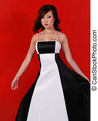 moda, asiático, formal