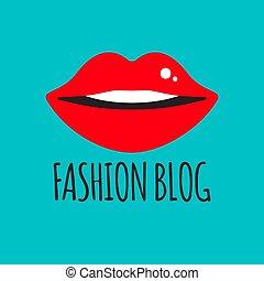 moda, blogger, logotipo