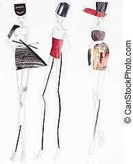 moda, collage