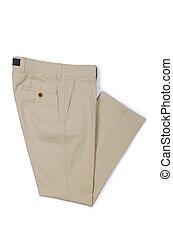 moda, concepto, con, pantalones, blanco