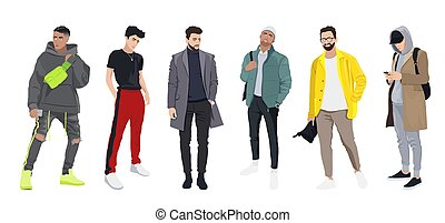moda, elegante, ropa, hombres, -, estilo, conjunto, calle, moderno, vestido