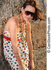 moda, estate, ragazza