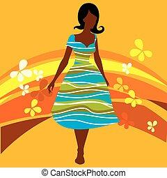 moda, illustrazione, donne
