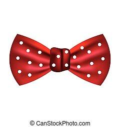 moda, isolato, cravatta arco, maschio, icona