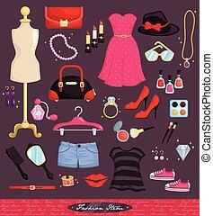 moda, item, jogo