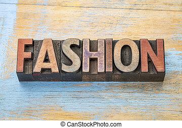 moda, legno parola, tipo