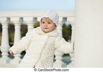 moda, menina bebê