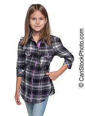 moda, menina jovem