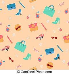 moda, modello, seamless, accessori, cosmetica, womens, abbigliamento