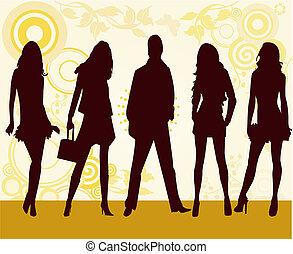 moda, niñas