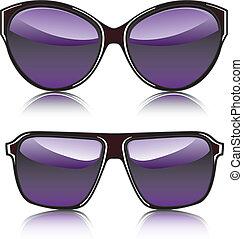 moda, occhiali