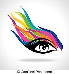 moda, occhio, creativo