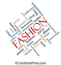 moda, palabra, nube, concepto, angular