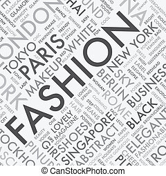 moda, palavra, tipografia, tag, t, nuvem