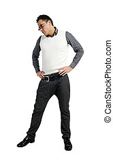 moda, pantaloni, camicia, uomini