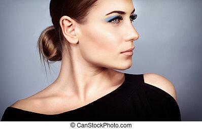 moda, retrato de mujer