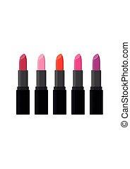 moda, rossetto, bellezza, set., trucco, cosmetico, accessorio, lucido, care.
