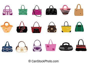 moda, sacolas