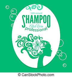 moda, sagoma, terme, &, bellezza, shampoo, silhouette.,...