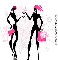 moda, shopping, women.