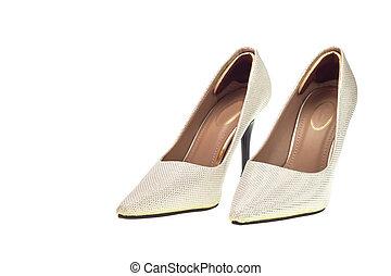 moda, signora, scarpa