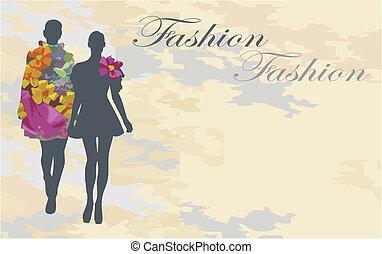 moda, silueta
