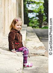 moda, toddler, menina