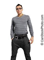 moda, uomini, pantaloni