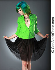 moda, verde