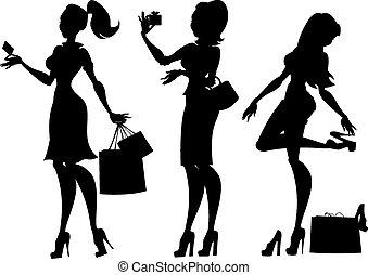 moda, y, belleza, collection.