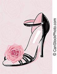 moda, zapato