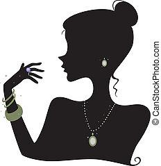 mode, accessoires, silhouette
