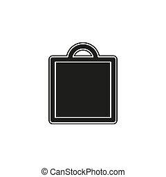 mode, achats, -, isolé, illustration, vente, sac, centre commercial, vecteur, icône, magasin