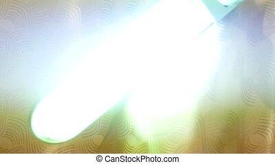 mode, ampoule, bureau, lamp., endommagé, lumière, stroboscope