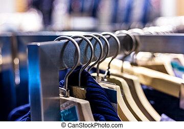 mode, beklæde rack, fremvisning