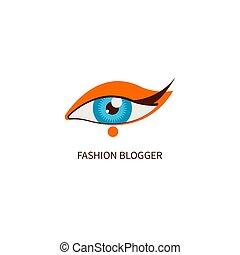mode, blogger, öga smink