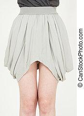 mode, branché, jupe
