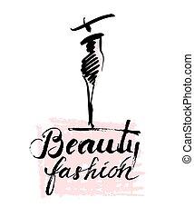 mode, dame, beauté
