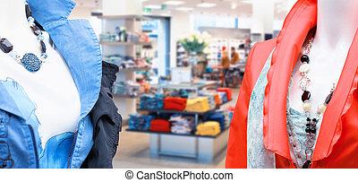 mode, de opslag van de kleding