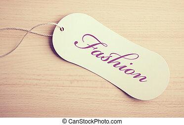 mode, etikett