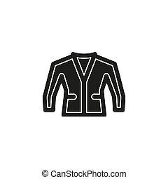 mode, -, freigestellt, abbildung, jacke, vektor, tragen, kleidung