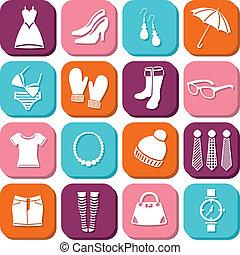 mode, icônes