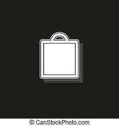 mode, inköp, -, isolerat, illustration, försäljning, väska, galleria, vektor, ikon, lager