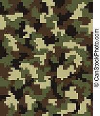 mode, kamouflage, digital