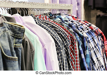 mode, kläderlager