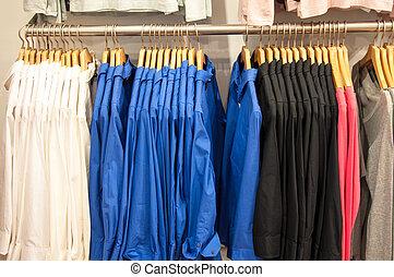 mode, kleidung, auf, kleiderbügel